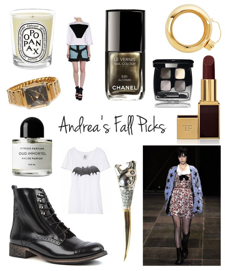 Andrea Paschal Fall Picks