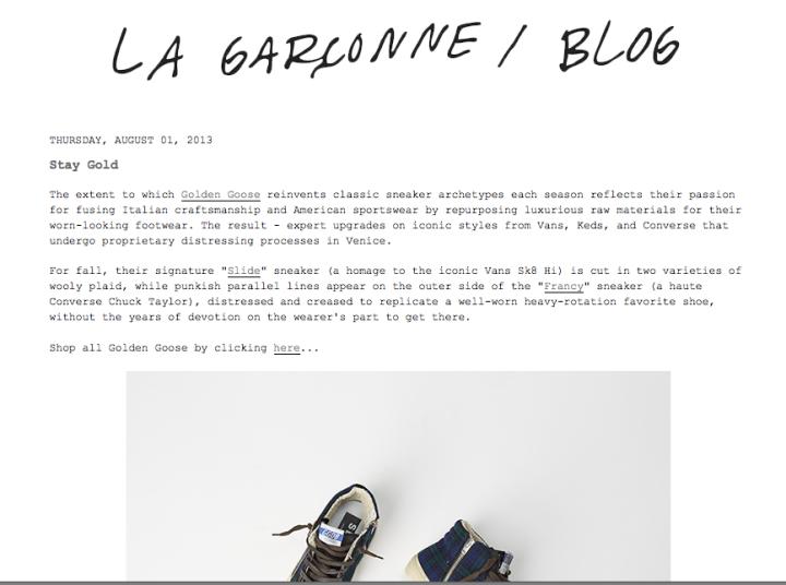La Garçonne Blog