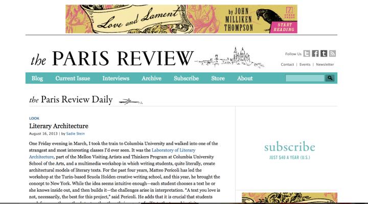 Paris Review Blog
