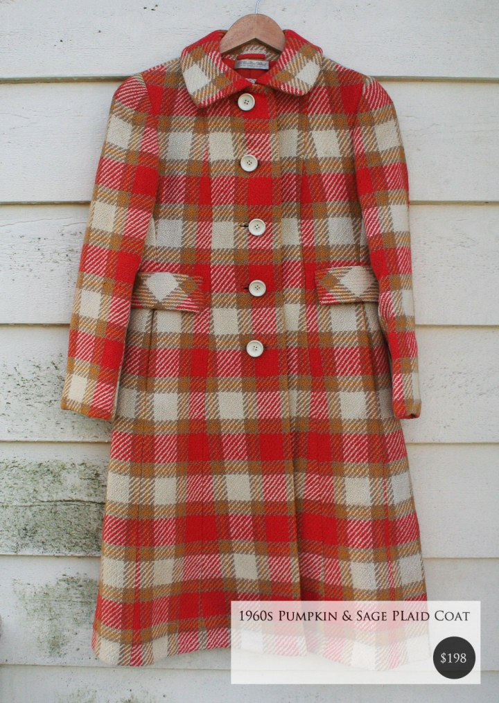Fox and Rook Vintage Plaid Coat