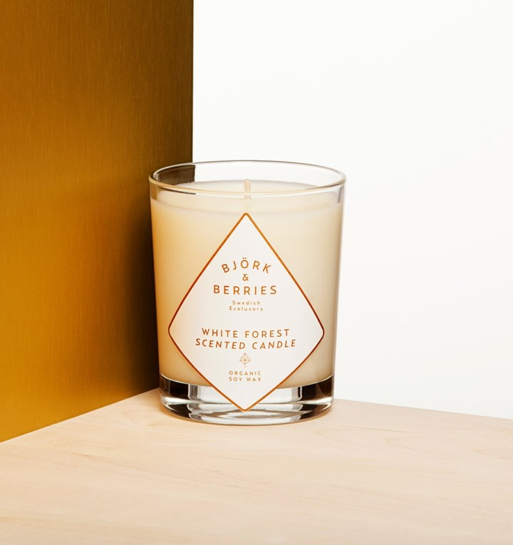 Björk & Berries // White Forest Scented Candle