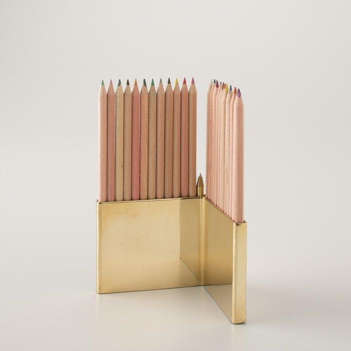 Coloured Pencils with Brass Holder