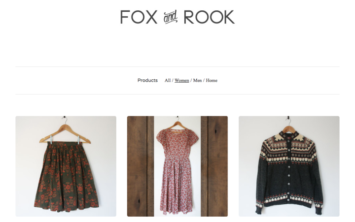 Fox and Rook shop